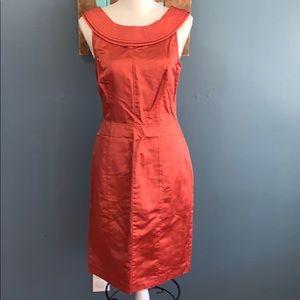 Vera Wang   Burnt Orange Silk Dress